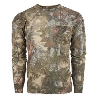 King's Camo Men's Classic Cotton Long Sleeve Shirt Mountain Shadow - Camouflage