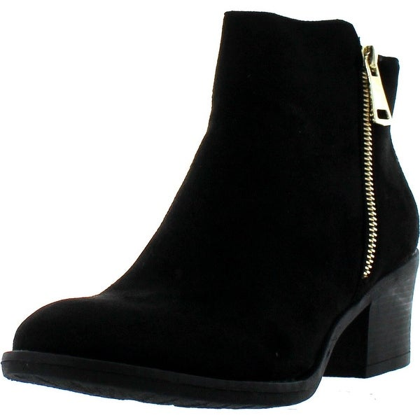 Reneeze Pama-01 Women's Zipper Stacked Chunky Heels Strappy Ankle Booties