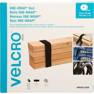 Velcro(R) Brand One-Wrap(R) Roll 25Mmx15m-Black