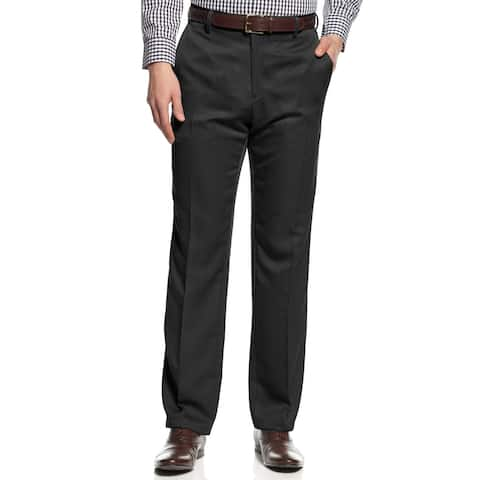 Kenneth Cole Reaction Mens Urban Heather Dress Pants Woven Slim Fit