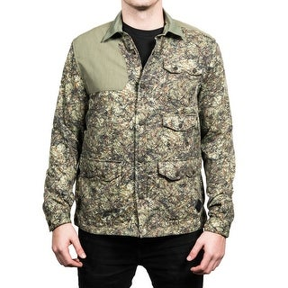 Moncler Men's Camoflauge Flannel Shell Shirt Green