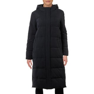 Tommy Hilfiger Womens Maxi Coat Faux Fur Winter - Navy - S