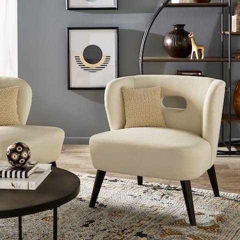 Sasha Espresso Finish Velvet Chair by iNSPIRE Q Modern