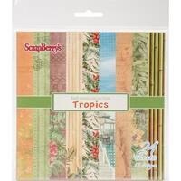 "Scrapberry's Tropics Paper Pack 6""X6"" 24/Pkg-12 Single-Sided Designs/2 Each"