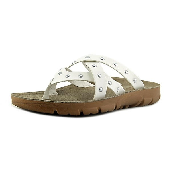 White Mountain Bailout Open Toe Synthetic Slides Sandal