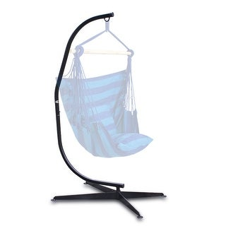 Belleze Hammock C Frame Stand Solid Steel Construction For Hanging Air  Porch Swing Chair