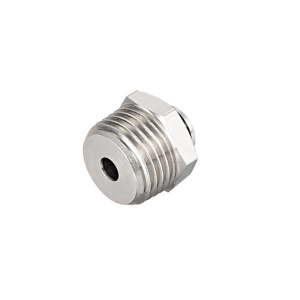 End OD 6mm Quick Link Air Fittings 2pcs 4mm Push Lock Tube Fitting