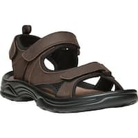 Propet Men's Daytona Adjustable Strap Sandal Brown Full Grain Leather