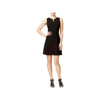 Kensie Womens Cocktail Dress Split Neck A-Line