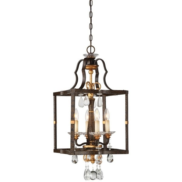 "Metropolitan N6463-652 4 Light 14"" Wide Pendant with Crystal Accents from the Chateau Nobles Collection"