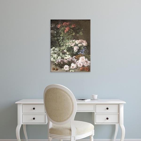 Easy Art Prints Claude Monet's 'Spring Flowers' Premium Canvas Art