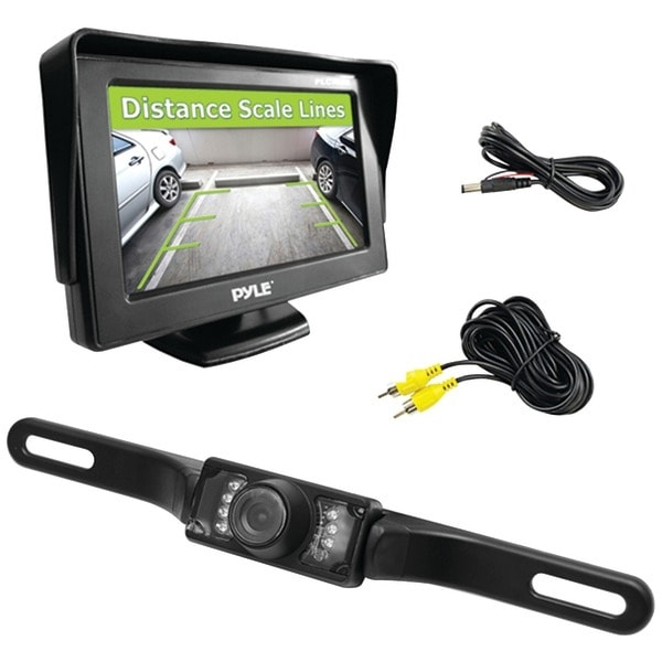 """Pyle Pro Plcm46 4.3"""" Monitor & Backup Swivel-Angle Adjustable Camera System With Distance-Scale Lines & Parking Assist"""