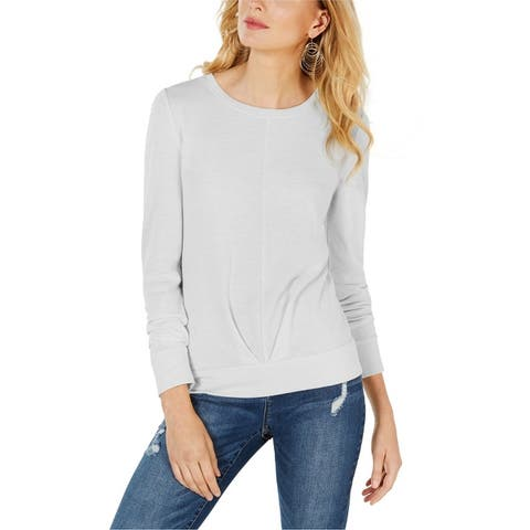 I-N-C Womens Pleated Sweatshirt