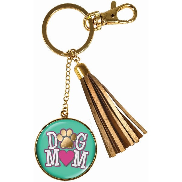 Spoontiques 17670 dog mom keychain
