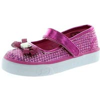 Keds Bow-Lovely Tex Mary Jane Sneaker - Fuchsia