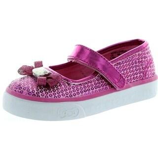 Keds Bow-Lovely Tex Mary Jane Sneaker - Fuchsia