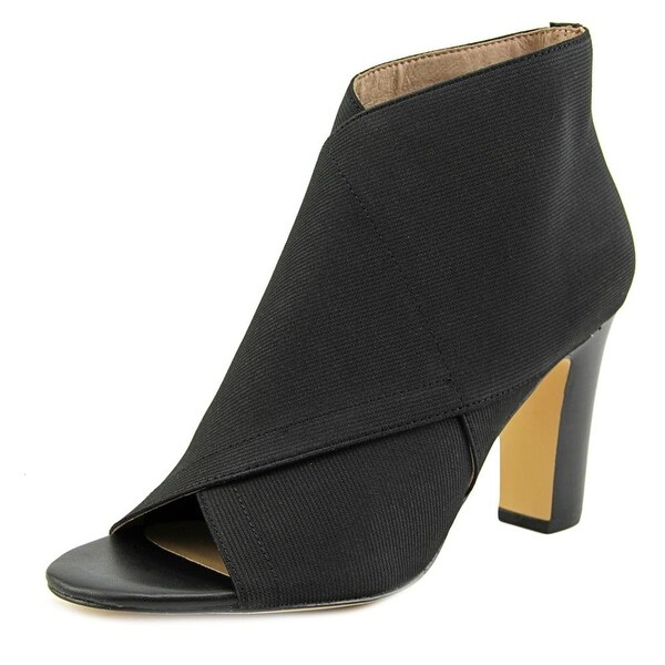 Nina Suzetta Women Peep-Toe Synthetic Black Heels