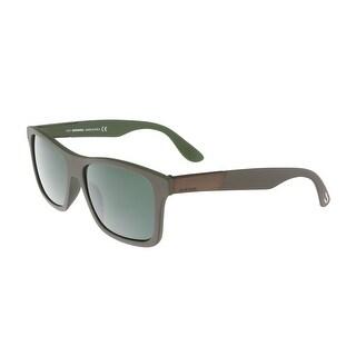 Diesel DL0184 5750N Gray Square Sunglasses - Grey - 56-15-150