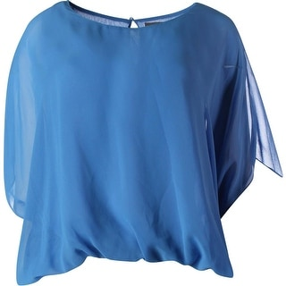 Vince Camuto Womens Oasis Chiffon Batwing Sleeves Blouse