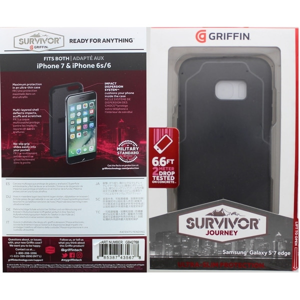 buy popular cd74a d67c6 Griffin Survivor Journey Protective Case For Samsung Galaxy S7 Edge -  Black/gray