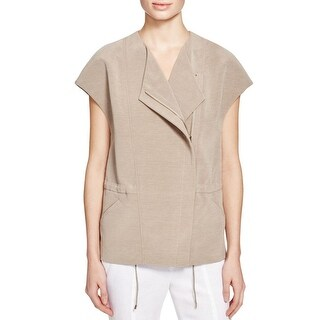 Vince Womens Jacket Asymmetric Crossover Neck - s