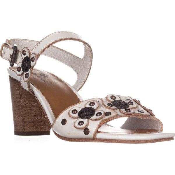 Patricia Nash Leona Ankle Strap Sandals, White