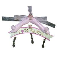 I Love To Dance Pink Ballet Shoes Christmas Ornament #J4186