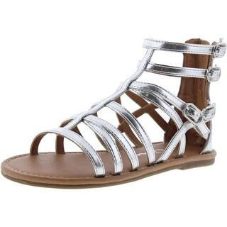 Nina Girls Leather Gladiator Sandals - 13 medium (b,m)