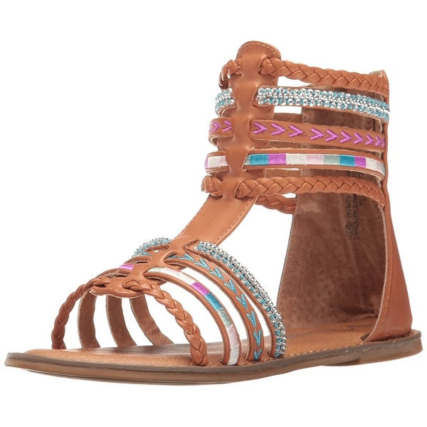 Nina Womens Cayenne Leather Open Toe Casual Gladiator Sandals