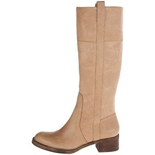 Lucky Brand Womens HIBISCUS Leather Round Toe Mid-Calf Riding Boots