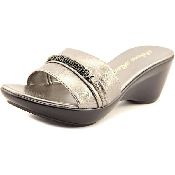 Athena Alexander Maiden Women Open Toe Synthetic Silver Slides Sandal