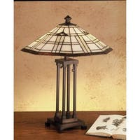 Meyda Tiffany 50281 Stained Glass / Tiffany Table Lamp from the Arrowhead Mission Collection - n/a