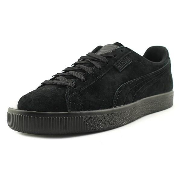 Puma x Staple Clyde Men Round Toe Suede Black Sneakers
