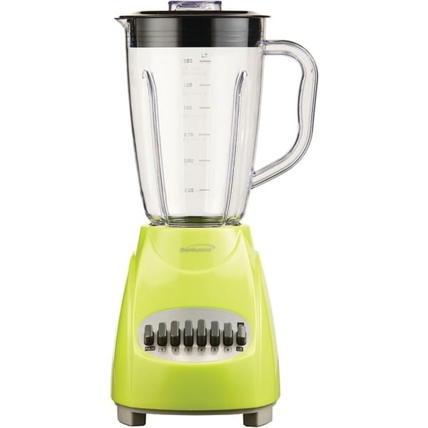 BRENTWOOD JB-220G 12-Speed Blender with Plastic Jar (Lime Green)