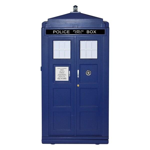 Doctor Who Plastic 12L TARDIS Mini Fridge Cooler (Blue)