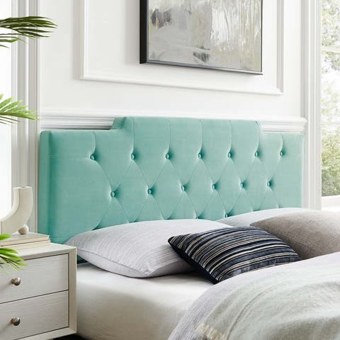 Juliet Tufted King/California King Performance Velvet Headboard