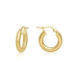 "MCS JEWELRY INC 14 KARAT YELLOW GOLD HOOP EARRINGS (0.6"" DIAMETER)"