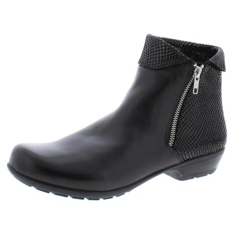 Walking Cradles Womens Emmy Ankle Boots Casual Comfort Insole - Black