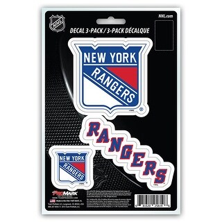 New York Rangers Decal Die Cut Team 3 Pack