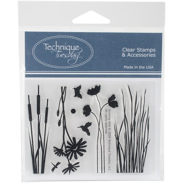 """Technique Tuesday Clear Stamps 3""""X4""""-Growing Wild"""