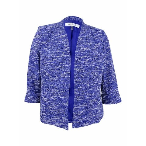 Kasper Women's Plus Size Tweed Blazer - Iris Multi