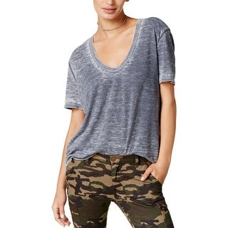 Project Social T Womens T-Shirt Textured Scoop Neck - s