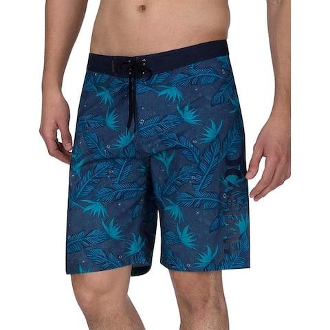 Hurley Mens Hanoi 20 Floral Beachwear Board Shorts - Obsidian