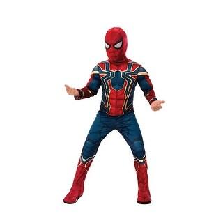 Boys Deluxe Infinity War Spiderman Costume