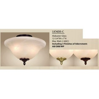 "Vaxcel Lighting LK34215-C Fan Light Kit 12.75"" 2-Light Ceiling Fan Light Kit with Candelabra (E12) Bulb, 40 Watts Each"