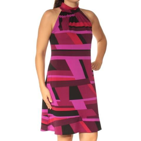 AMERICAN LIVING Purple Sleeveless Above The Knee Shift Dress Size 4