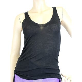 fe335f61ed92d4 Quick View.  340.00. Gucci Women s Black Cotton Large Sleevless Side  Tassels Tank Top 259932