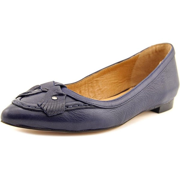 Corso Como Musical Women Pointed Toe Leather Blue Flats
