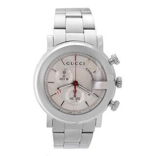 Gucci Men's 101 Series YA101339 White Dial Watch