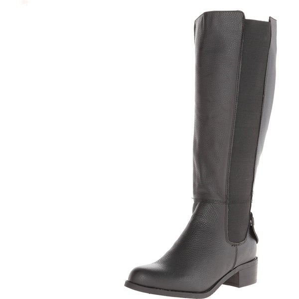 RSVP NEW Black Shoes Size 8.5W Knee-High Leather Knox Boots
